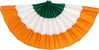 orange and white bunting