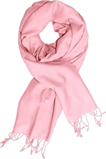 Peach Couture Luxurious Classic Soft Cashmere and Silk Blend Pashmina Wrap Shawl