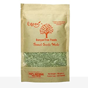 BanyanTree Foods Fennel Seeds 150g (5.3Oz)~ All Natural, Indian Origin   No Color   Gluten Free Ingredients   Vegan   Non-GMO