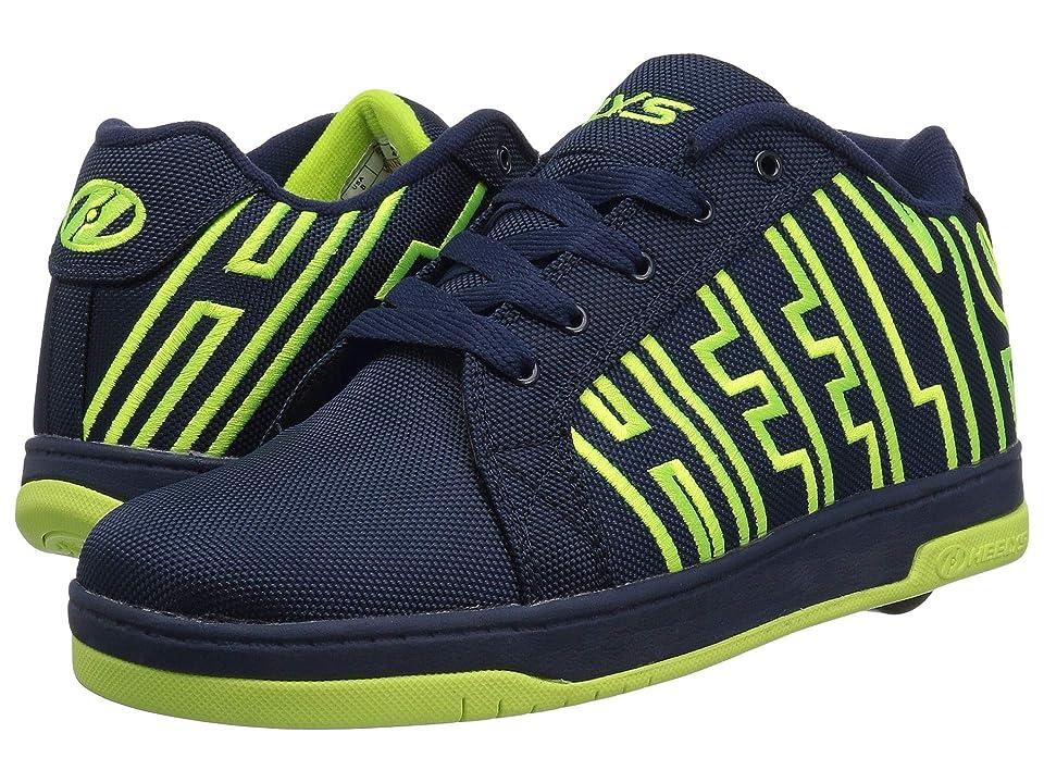Heelys Split (Little Kid/Big Kid/Adult) (Navy/Bright Yellow) Boys Shoes