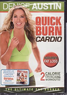 Denise Austin Quick Burn Cardio The Ultimate Fat Burner - Accelerate Fat Loss - 2 Calorie Crunching Workouts!