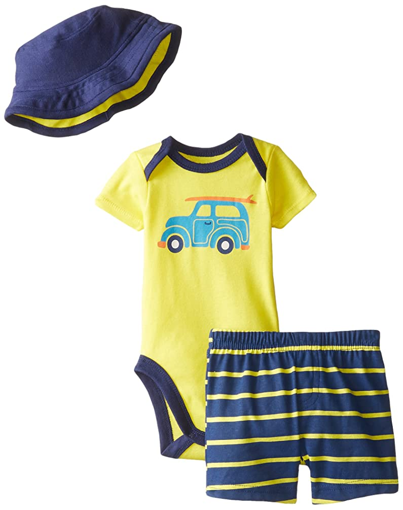 Gerber Baby Boys' 3 Piece Bodysuit, Hat, and Short Set