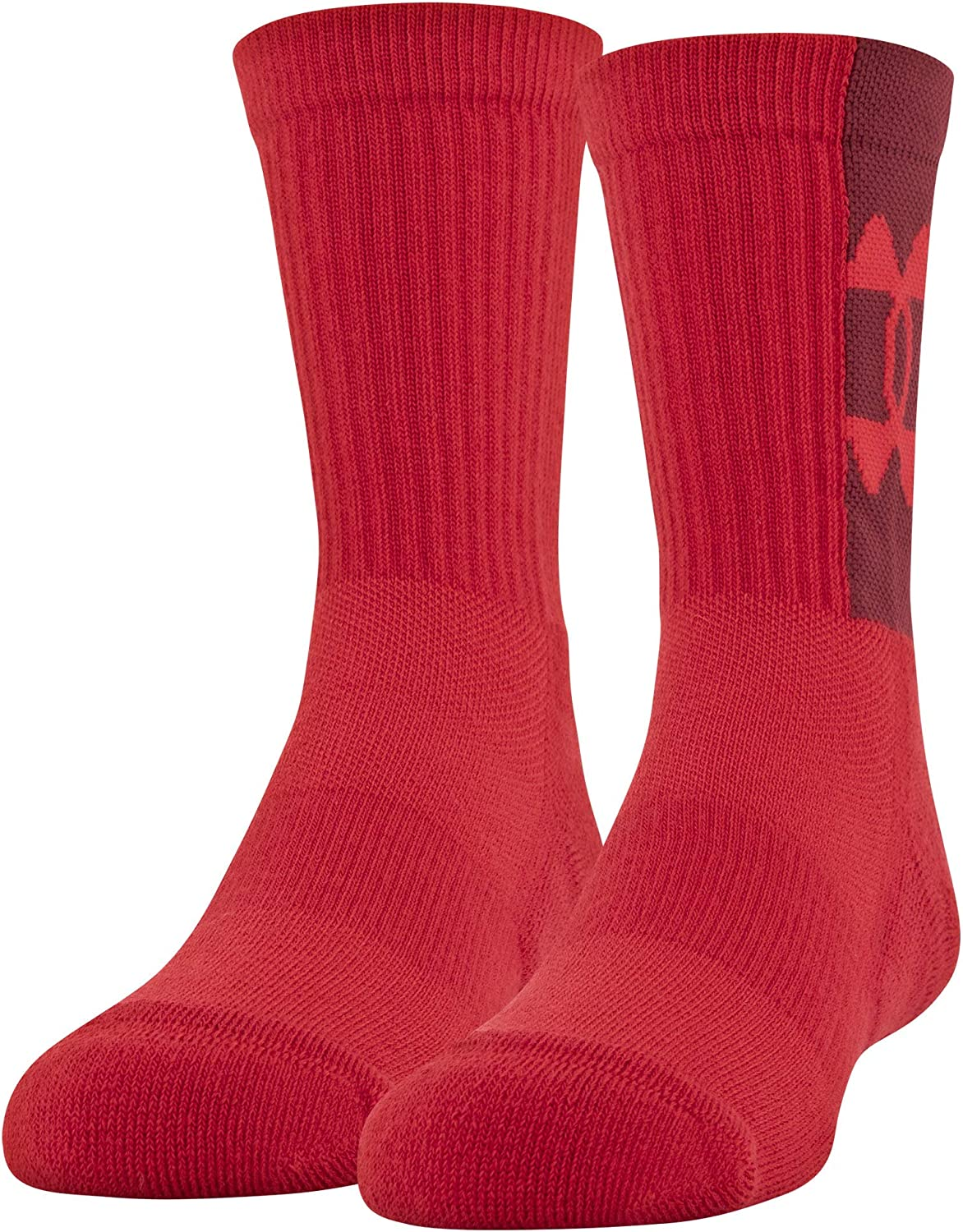Under Armour Youth Game and Practice Crew Socks, 2-Pairs