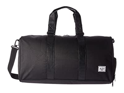 Herschel Supply Co. Novel Mid-Volume (Black/Black Synthetic Leather) Duffel Bags