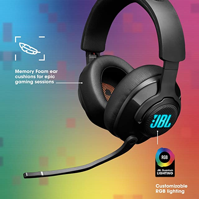 JBL Quantum 400 - Wired Over-Ear Gaming Headphones with USB and Game-Chat Balance Dial - Black (Renewed)
