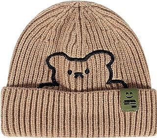 الخريف الشتاء للرجال والنساء جميع مباراة دافئة متماسكة قبعة ، اكسسوارات الدب المألوف قبعة متماسكة مقبب