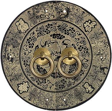 Knocker,Chinese Handle Antique Door Handle Copper Handle Classical Handle Door Lock Furniture Handles Cabinet face Plate u-Sh