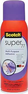 Scotch Super 77 Multipurpose Adhesive Spray, Bonds to fabric, cardboard, plastic, metal, wood, felt, and more, 10.7 Ounces (7716)