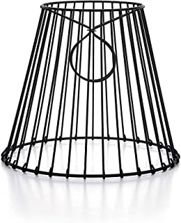Cleveland Vintage Lighting 30399A Clip-on Lampshade, Wire, Black, 8 x 7 x 4.5 inches