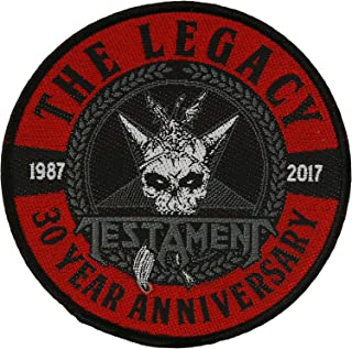 Testament Men's The Legacy 30 Year Anniversary Woven Patch Black