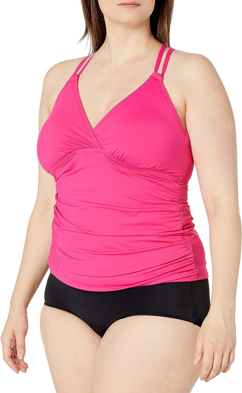 La Blanca Women's Island Goddess Underwire Cross Back Tankini Swimsuit Top