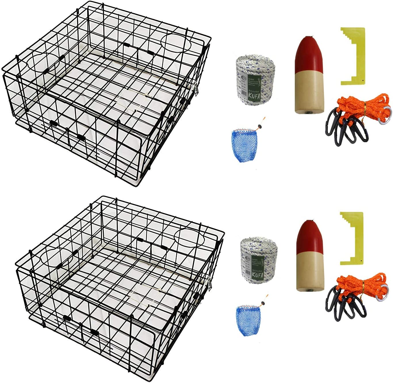 KUFA 2-Pack Vinyl Sale Coated Crab Accessory New item Kitâ Crabbing with Trap
