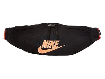 Nike Heritage Hip Pack (Black/Black/Bright Crimson) Bags