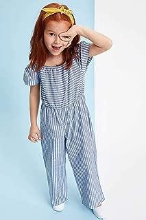 DeFacto Askılı Büzgü Detaylı Dikey Çizgili Tulum Kız çocuk Pantolon