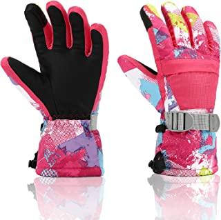 Ski Gloves, Yidomto Waterproof Warmest Winter Snow Gloves for Mens, Womens, Boys, Girls, Kids