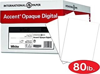 Accent Opaque Thick Cardstock Paper, White Paper, 80lb Cover, 216 gsm, 8.5 x 11, 97 Bright, 8 Reams / 2,000 Sheets - Super Smooth, Heavy Card Stock (121947C)