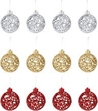 KESYOO 12pcs Christmas Ball Ornaments Hanging Tree Ball Baubles Shatterproof Ball Pendant Bulbs Mini Winding Ball for Seas...