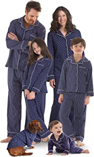 PajamaGram Family Pajamas Super Soft - Family Matching Pajamas, Navy