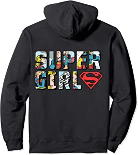 US DC Supergirl +Logo Comic Strip 01 Sweat à Capuche