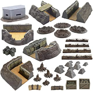 War World Gaming World at War Full Trench System Battlefield Set – 28 mm WW1 Bord Wargame Terrain Scenery Western Front Ba...