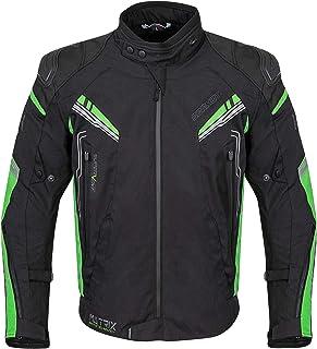 <h2>Germot Herren Motorrad-Textiljacke Matrix, wind- und wasserdicht, Blouson, schwarz/grün, 2XL</h2>