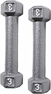 Dorsa Premium Barbell Cast Iron Dumbbell Weight (3LB x 2) Pcs