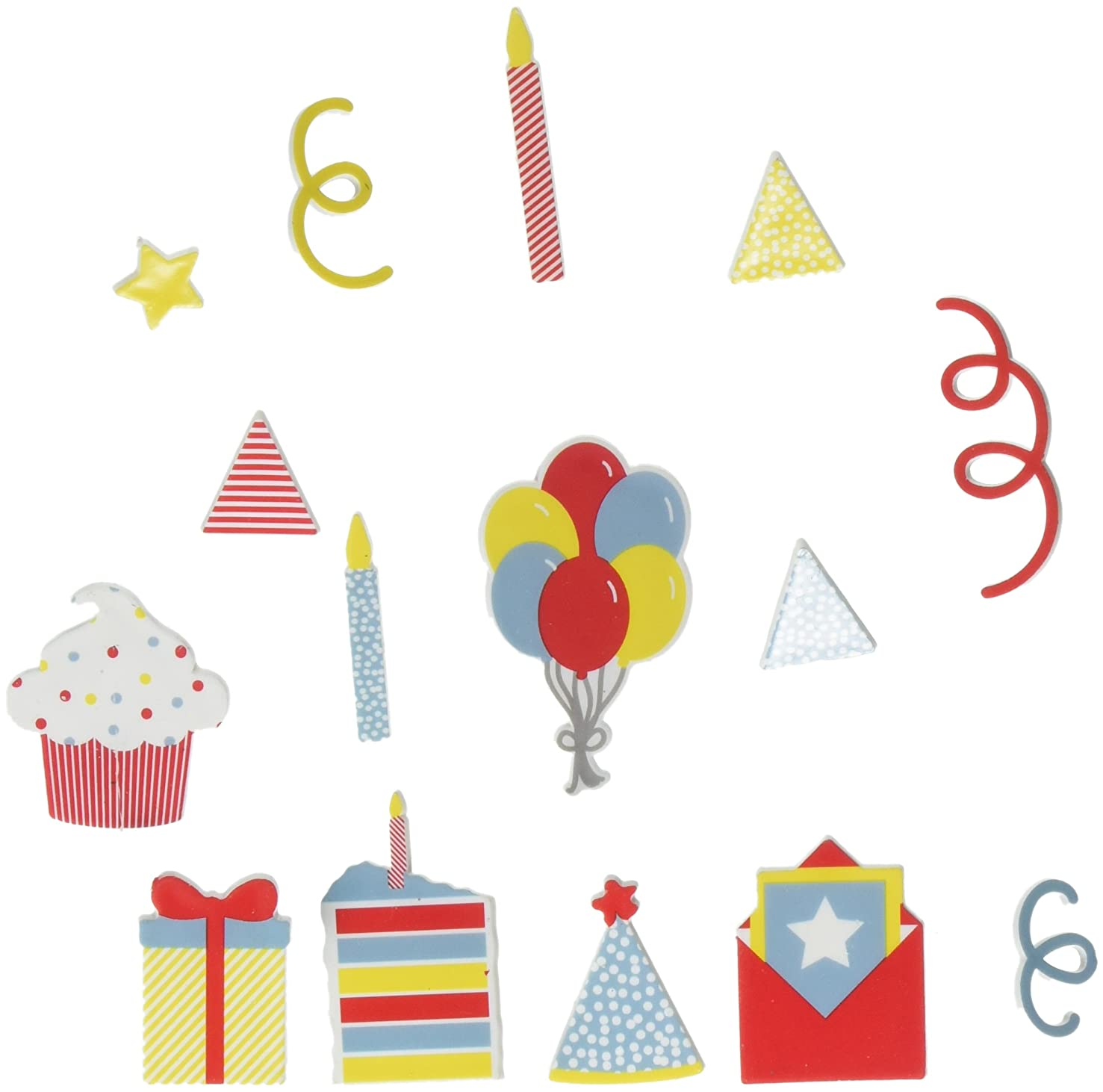 American Crafts 15 Piece Celebration Icon Pack Die Cuts with a View Letterboards