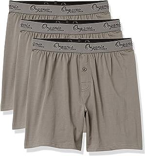 Men's Classic Cotton Knit Boxers 100% Natural Comfort,...