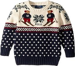 Ski Bear Cotton-Merino Sweater (Toddler)