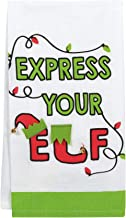 Enesco Our Name is Mud Holiday Express Your Elf Dish Cloth Tea Towel, 20 Inch, Multicolor
