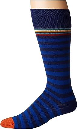 Paul Smith - Multi Top Two Stripe Sock
