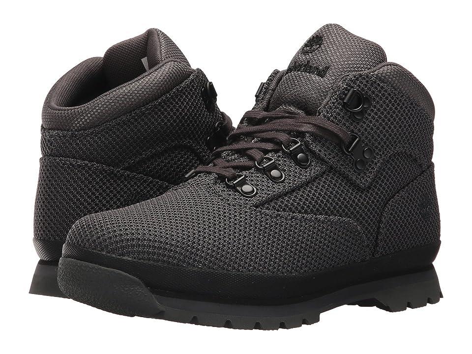 Timberland Kids Fabric Euro Hiker (Big Kid) (Black) Kids Shoes