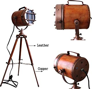 Marine Vintage Low Floor Lamp Antique Studio Model Searchlight with Tripod