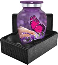 Trupoint Memorials Mystic Butterfly Small Keepsake Urn for Human Ashes -Qnty 1 - Beautiful Keepsake Sharing Token to Remem...