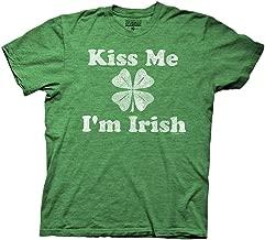 St Patrick's Day Kiss Me I'm Irish Adult Green Heather T-Shirt
