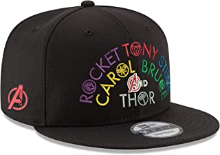 finest selection 8d928 66a61 The Avengers Marvel Comics Names Endgame 9FIFTY Adjustable Hat Black