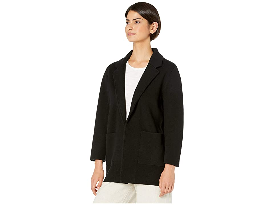 J.Crew Sophie Open-Front Sweater Blazer (Black) Women's Clothing