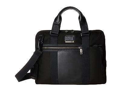 Tumi Alpha Bravo Charleston Compact Brief (Black) Briefcase Bags