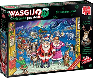 Jumbo, Wasgij, Christmas 17 Elf Inspection, Jigsaw Puzzles for Adults, 1,000 Piece