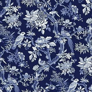 Windham Fabrics Williamsburg Blue Byrd Navy Blue Aviary