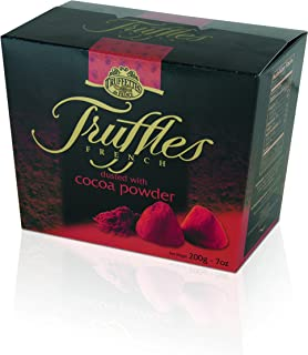 Chocmod Truffettes de France Natural Truffles Dusted with Cocoa Powder, 200-Gram Boxes (Pack of 6)