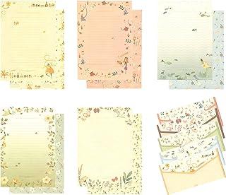 طقم حروف ورقية من IMagicoo 48 قرطاسية جميلة مع 24 ملصق ختم ظرف / ظرف (9)