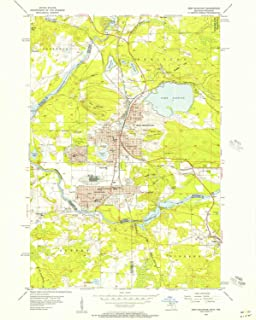 YellowMaps Iron Mountain MI topo map, 1:24000 Scale, 7.5 X 7.5 Minute, Historical, 1955, Updated 1957, 26.9 x 22 in