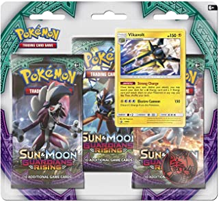 Pokemon Cards: Sun & Moon Guardians Rising Boosters, 3 Booster Pack with Vikavolt Promo Card