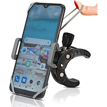 ACEHE Bike Phone Mount Adjustable Motorbike Phone Holder XS 7 11 Pro Max 7P Scooter Treadmill Handlebar Phone Mount Compatible with iPhone 12 8P 11 Pro 6S; Samsung; Huawei 8 X
