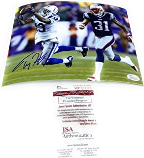 Ty Hilton Indianapolis Colts Signed Autograph 8x10 Photo Photograph #1 JSA Witnessed Certified