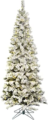 Vickerman 65' Flocked Pacific Artificial Christmas Tree with 300 Warm White LED Lights