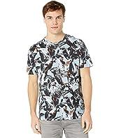 Beakme Short Sleeve Parrot Printed T-Shirt