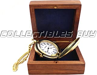 Collectibles Buy Royal Small Pocket Watch Roman Dials Anchor Shiny Brass Vintage Maritime Watch Gift Present