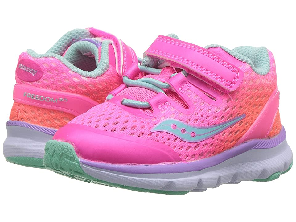 Saucony Kids Freedom ISO (Toddler/Little Kid) (Pink Fade/Multi) Girls Shoes